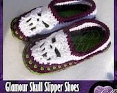 Glamour Skull Slipper Shoes - MADE TO ORDER
