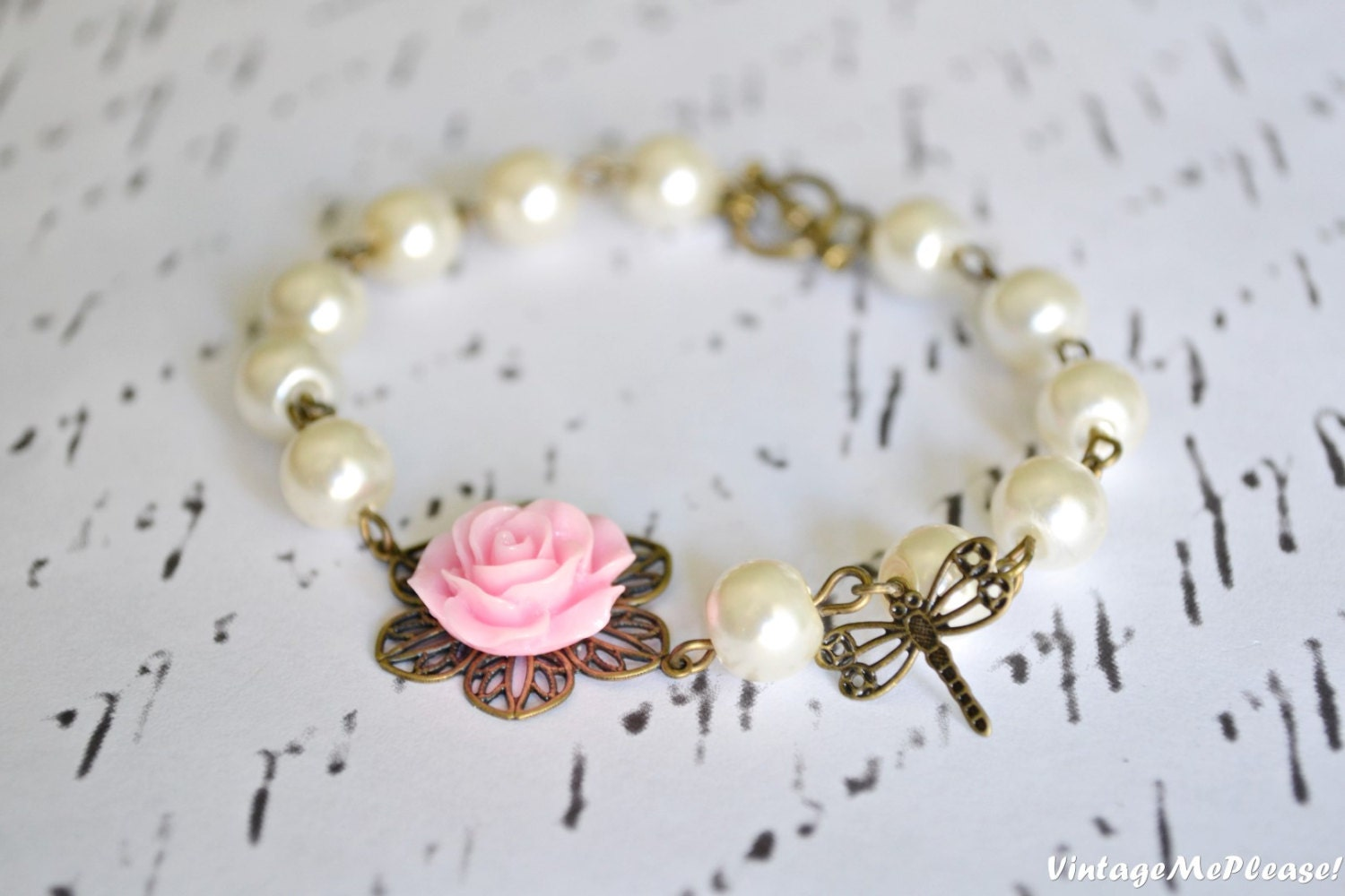 Flower Girl Gift Bridesmaids Gifts Pearl Bracelet Childrens