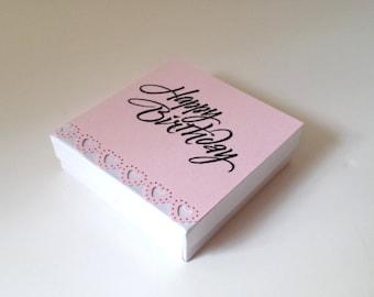 Happy Birthday gift box, pink gift box, gift box, necklace gift box, jewelry box, jewelry gift box, birthday gift, gift for her,ring box