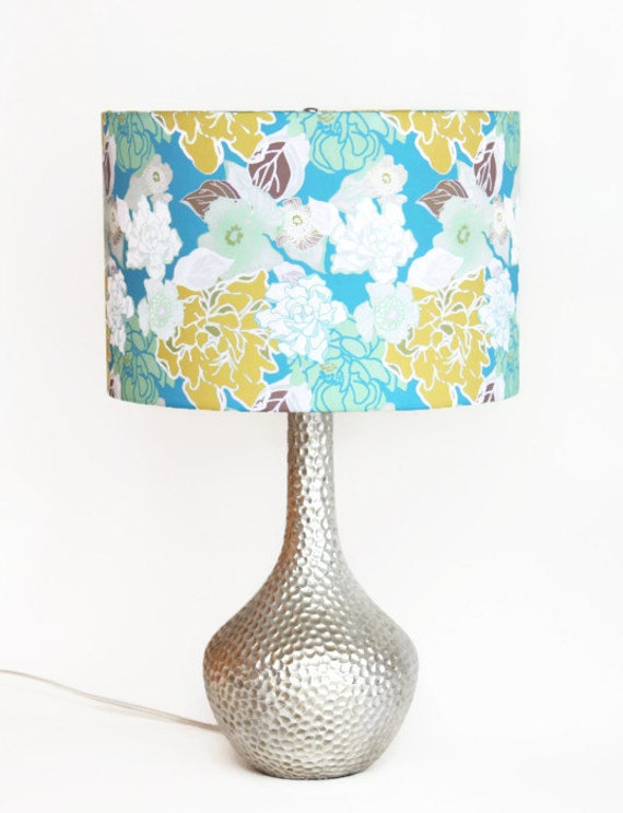 lamp shade pendant light swag lamp choose your size turquoise. Black Bedroom Furniture Sets. Home Design Ideas
