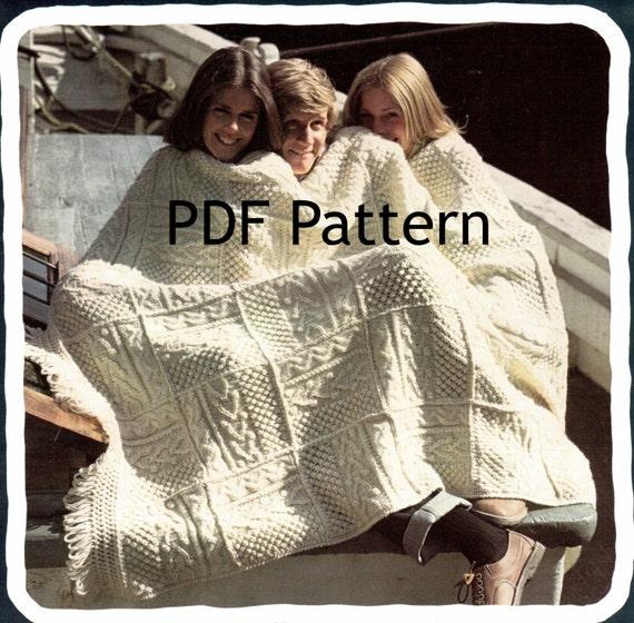 Fisherman Knit Afghan