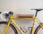 Wooden bike shelf from Europe - natural oak colour