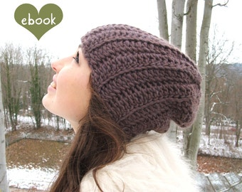 Instant Download - Crochet Pattern - Beanie Hazelnut - PDF ebook No. 60