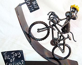 The Joy of Cycling - Steel Mouse Sculpture