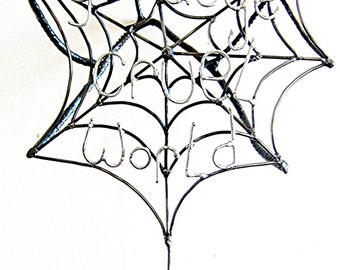 Wall Hanging Suicidal Spider Sculpture made from Recycled steel