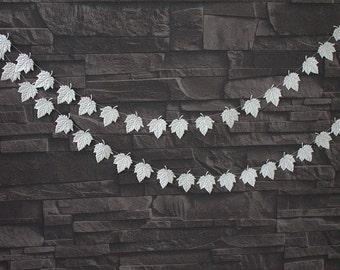 Ivory garland, Wedding Decorations, Wedding Reception Decor, Bridal Shower Decor, Baby Photo Prop