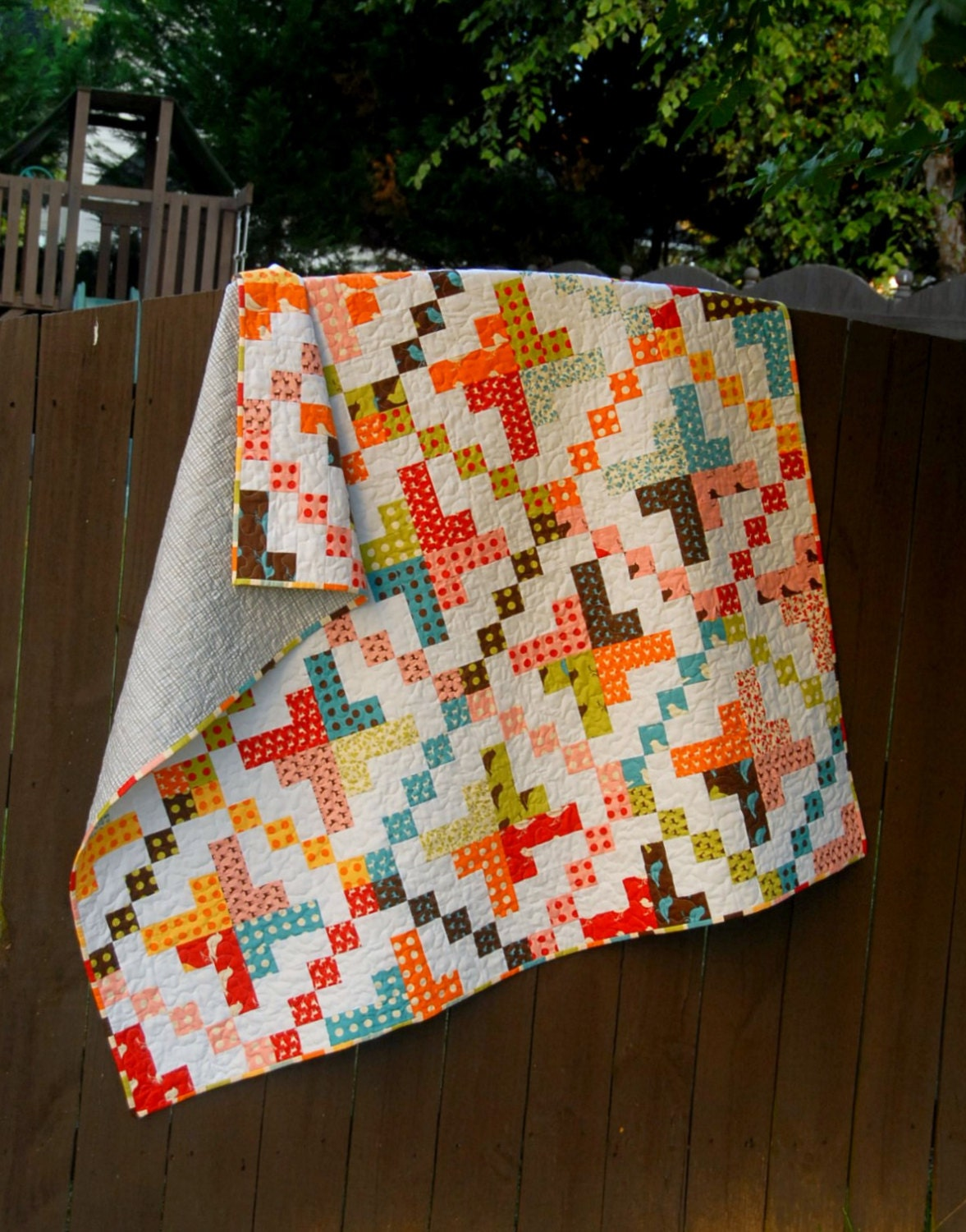 Quilting Patterns On A Roll : On a Jelly Roll Printed Quilt Pattern Baby Quit