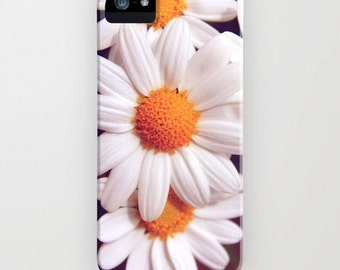iPhone Case - 5 4 4s 3g 3gs - Samsung Galaxy S4 - marguerite dream - photography floral summer white vintage flower blossom yellow