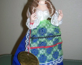 Vintage 60's 70's Big Eyed Beautiful Bradley Irish Luck Girl in Costume