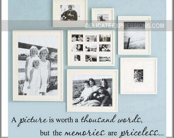 Family Wall Decal - A Picture is Worth a Thousand Words - Family Room Wall Decal - Picture Wall Decal