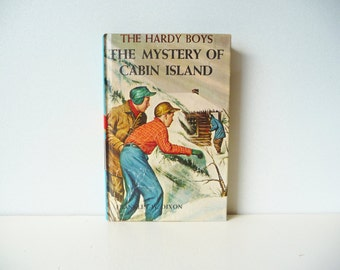 "Vintage The Hardy Boys Mystery Stories ""The Mystery of Cabin Island"" by Franklin W. Dixon - Grosset & Dunlap, Inc. 1966 -Free Gift Wrapping"