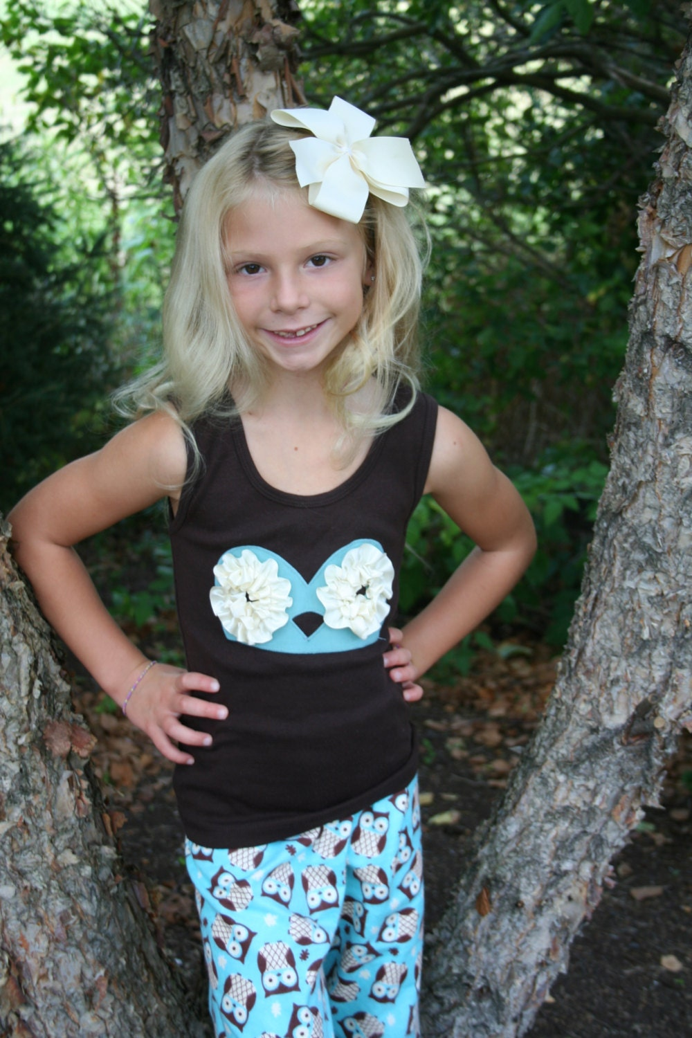 WHOO WHOO Girls Owl Pajamas Girls Pajamas by AnneMaddoxBoutique