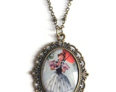 Haunted Mansion Parasol Girl Necklace