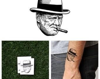 Winston Churchill - Temporary Tattoo (Set of 2)