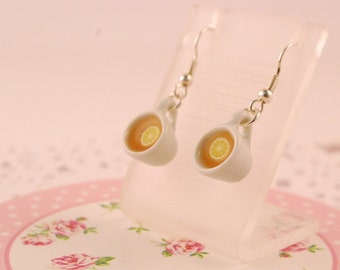 tea cup earrings