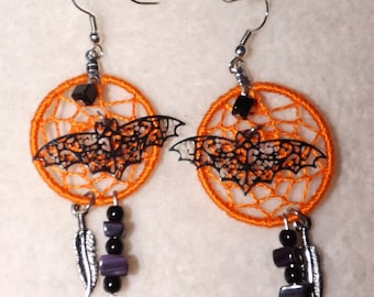 Halloween Dream Catcher Earrings