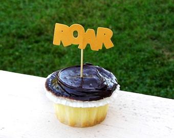 12 Lion 'ROAR' Cupcake Toppers