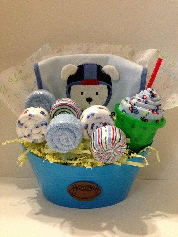 Baby Gift Basket Etsy : Sweet treats baby boy gift basket by bebeblissbabygifts on