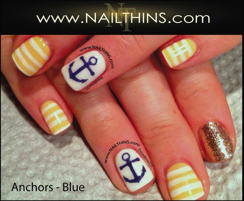 Mini anchor nail decal multi color anchor nail design zoom prinsesfo Gallery