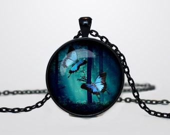Magical Forest necklace Magical Forest pendant Magical Forest jewelry Wood tree jewelry
