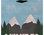 X-Files Twin Peaks Mashup (5x7) TV x files