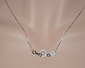 Sterling Silver Multi-Circle Necklace
