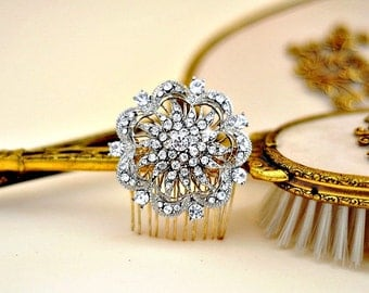Diamante Headpiece ,Wedding Jewel Comb, Bridal hair comb, Rhinestone hair comb, Rhinestone bridal comb, crystal wedding jewelry
