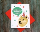 Christmas Reddit DOGE funny MEME Greeting Card