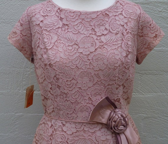 Jahre Kleid / Spitze Vintage 50er Jahre Kleid / Baumwolle Lace Kleid ...