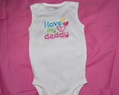 I Love My Daddy Onesie