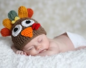 Tom the Turkey Hat Boy or Girl 1-2lb & 2-3 lb micro preemie, preemie, newborn, 0-3 month,3-6 month, 6-12 month,1-3 yr,Turkey Hunter Hat
