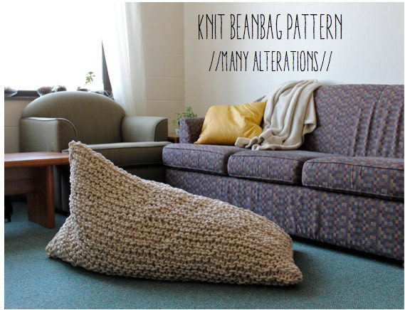 SALE // Knit Bean Bag Pattern // Instant Download // Many