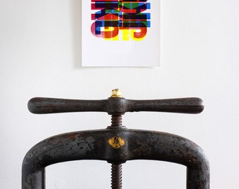 Letterpress - GHIJKL A4 Print