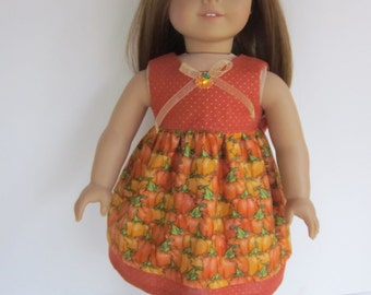 """Darling Fall dress fits American Girl Doll & other 18"""" dolls"""