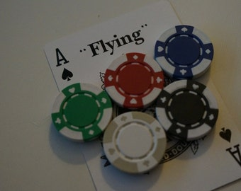 Mini Poker Chip Magnets (Set of 5)