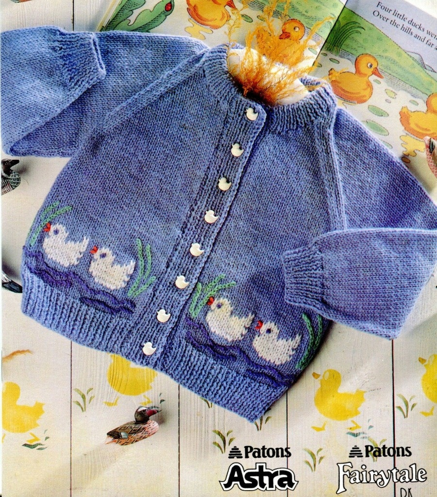 PATONS HAPPY DAYS Baby Knitting Patterns Vintage 1993