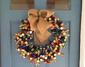 Multi Color Shotgun Shell Wreath