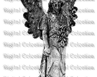 Graveyard Angel Tombstone. Tombstone PNG. Halloween PNG. Weeping Angel PNG. Angel Print. Angel Image. Angel Picture. Angel Art. No. 0088