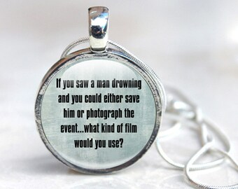 Camera Jewelry - Camera Glass Pendant - Camera Photo Jewelry (camera 7)