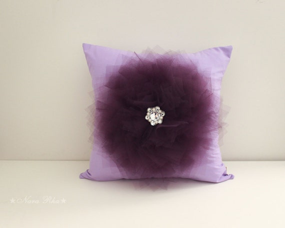 Decorative Pillow Lilac : Decorative Pillow Purple Pillow Lilac Pillow Nursery by NaraRha