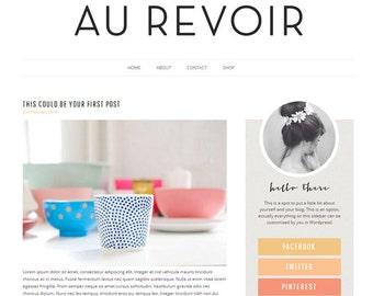 Wordpress Theme - Responsive Modern Chic Blog Design - Au Revoir