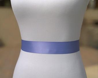 Iris Sash- 1.5 in Simple Satin Sash- Wedding Belt- Bridal Sash- Wedding Sash- Plain Sash- Simple Belt- Bridesmaid Sash- Ribbon Belt
