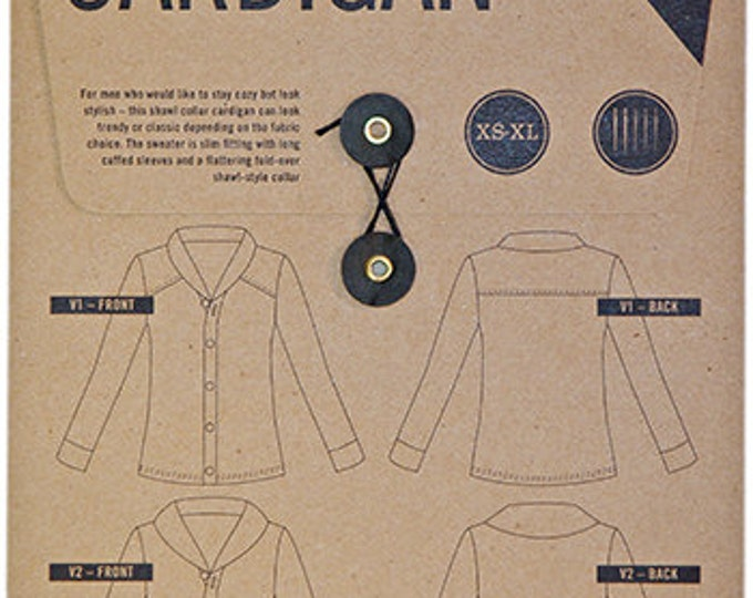 Newcastle Cardigan Men's Shirt Paper Pattern - Thread and Theory Patterns