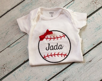 Baby Girl Baseball Bodysuit OR Shirt