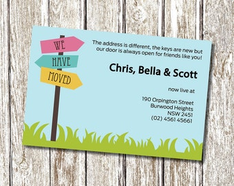Moving Announcement - We have moved - New Address Card - Printable and Personalised