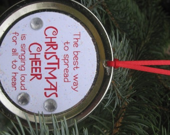 "Elf the Movie Quote Ornament: ""The best way to spread Christmas cheer is singing loud for all to hear."""