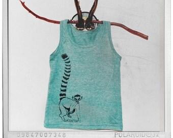 Hipster Fingerstache Lemur Tank