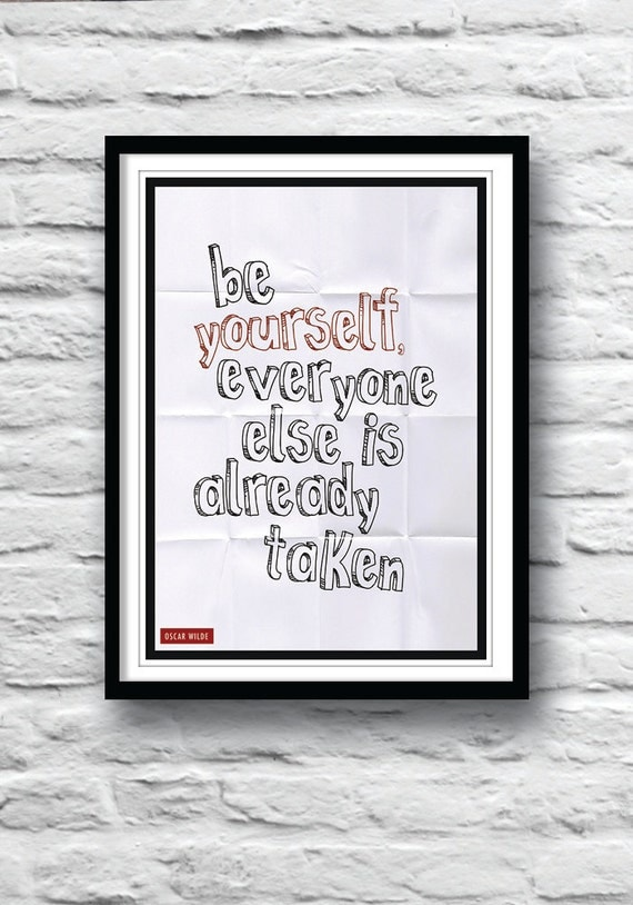 Items similar to oscar wilde quote typography poster for Art and decoration oscar wilde