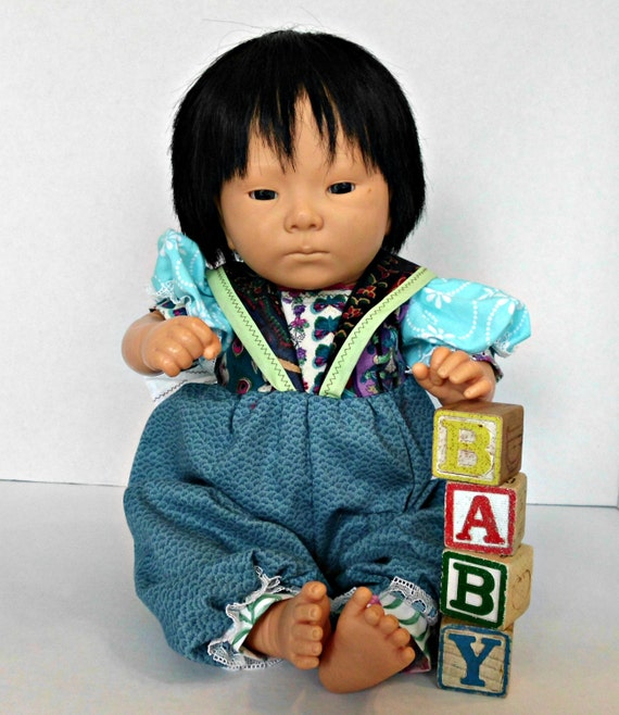 Furga Asian Baby Doll 1988 A 17 inch darling all plastic with handmade outfit