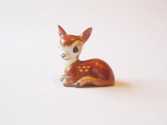 Vintage Goebel Bambi 1950's, Disney Bambi Figurine Full Bee Mark Made in Germany, Deer, Faun, Woodland Forest Figure, Christmas Decor